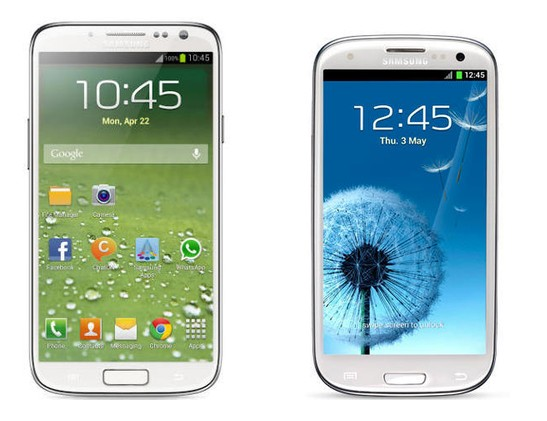 Galaxy S4 mini与标准版S4正面对比图