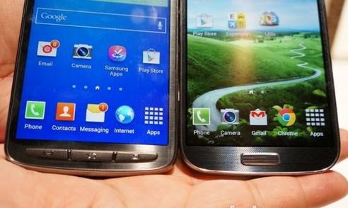 Galaxy S4 Active与标准版S4对比图