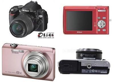 各种类型的数码相机