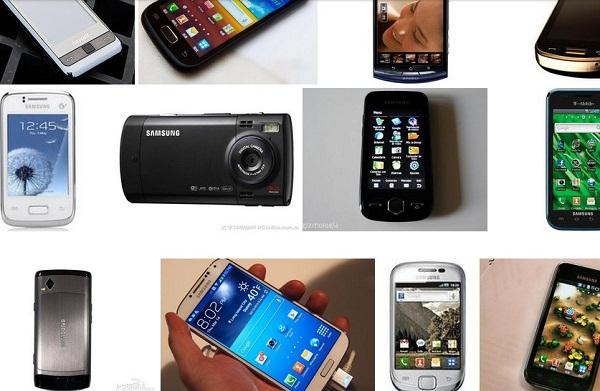 各种三星智能手机