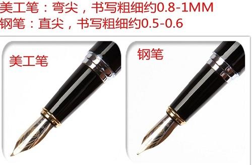 美工笔和普通书写笔