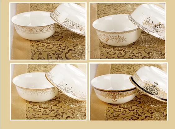 精美的家用骨瓷餐具