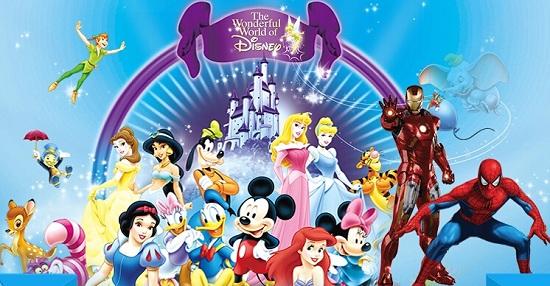 迪士尼的各种卡通形象