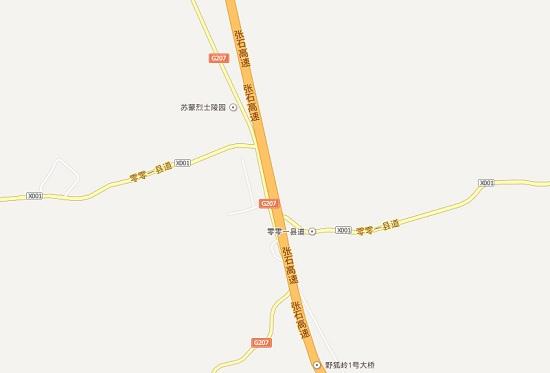 地图上的零零一县道就是草沿天路