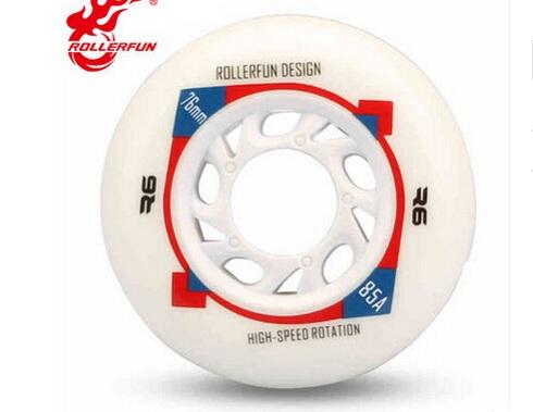 带有品牌、直径和硬度参数的轮子