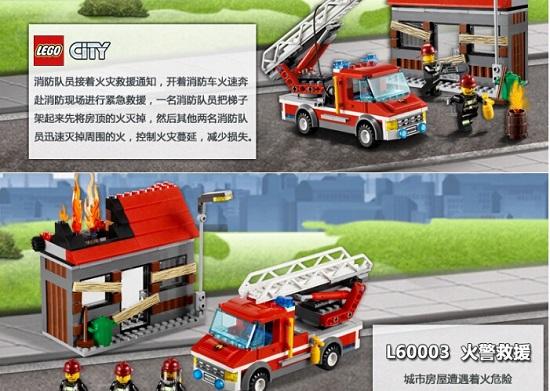 乐高城市系列之火警救援(60003)