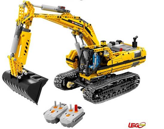 乐高电动挖掘机