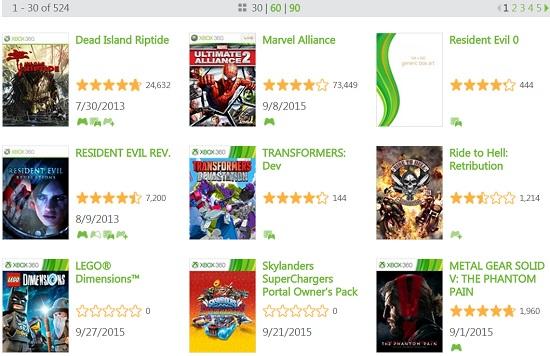 xbox360游戏数量超过500款