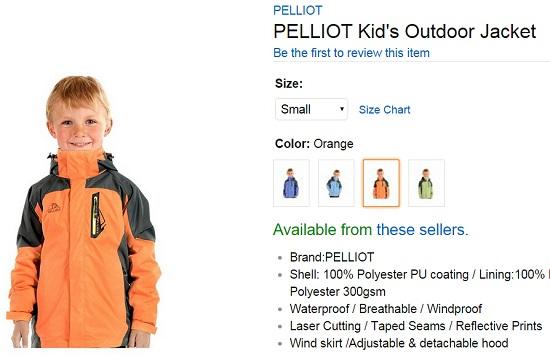 pelliot儿童冲锋衣怎么样