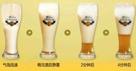 奥丁格啤酒的泡沫