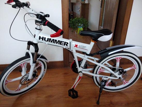 网上买的儿童自行车
