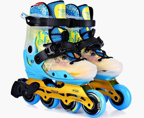 米高S7平花休闲两用儿童轮滑鞋