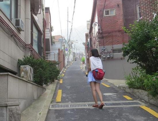 坡度较大的街道