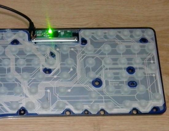 普通膜式键盘的内部结构