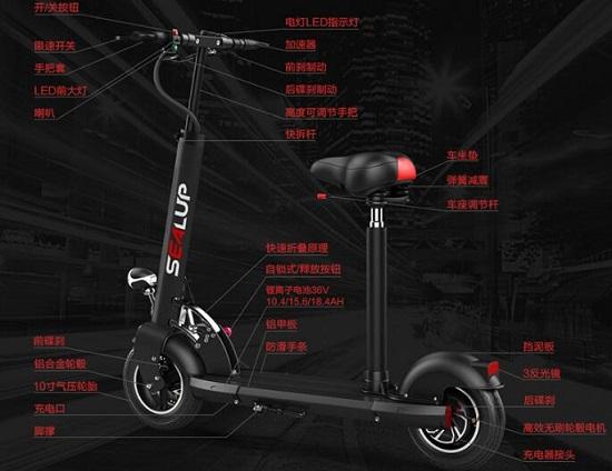 希洛普电动滑板车