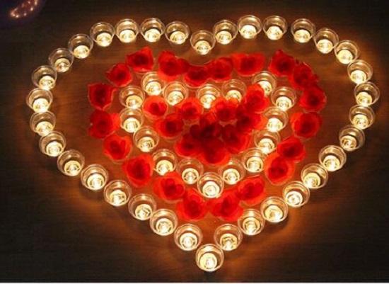 浪漫示爱蜡烛
