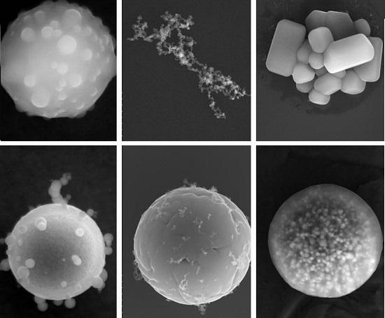 显微镜下的雾霾成分