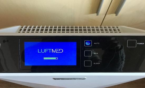 LUFTMED空气净化器的触控屏