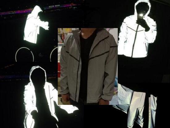 反光衣在白天和夜间的效果