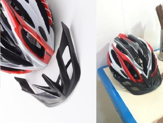 骑行头盔的可拆卸式帽檐
