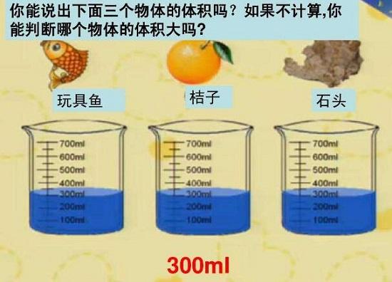 排水法测体积