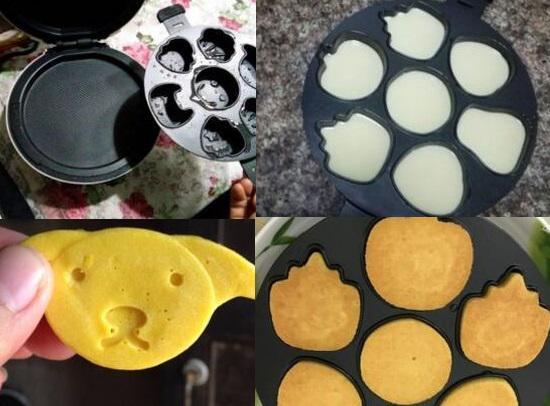 班尼兔蛋糕机烤盘实拍图和蛋糕实拍图