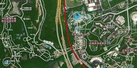 广州长隆景区卫星地图
