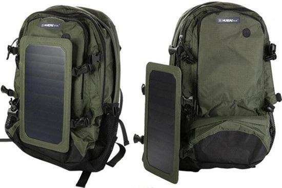 单电池片太阳能充电背包