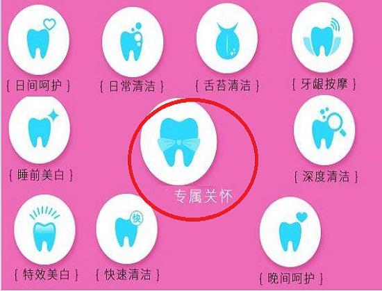 希澈电动牙刷的十种洁牙模式