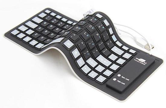 可卷曲硅胶键盘