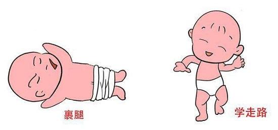 裹腿及过早让孩子学走路都是错误的