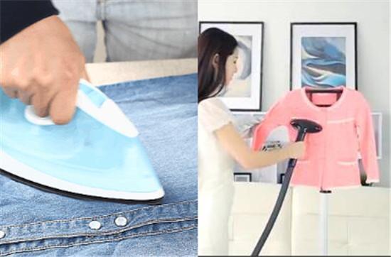 电熨斗和挂烫机的熨衣方式
