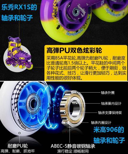 乐秀RX1S与米高906的轮子和轴承