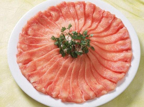 切好的薄肉片