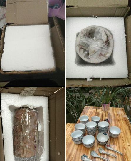 陶瓷餐具的快递包裹