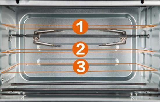 烤箱的内部功能更多