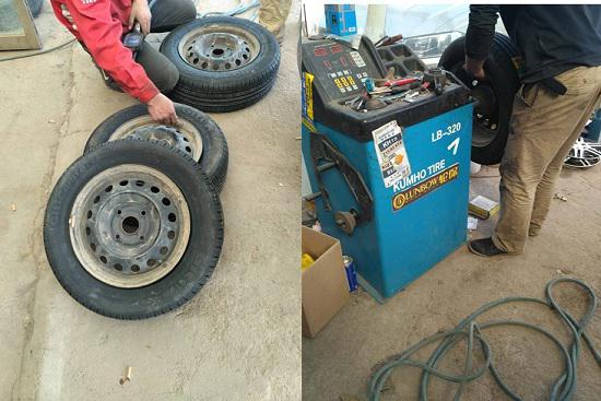 换完轮胎做动平衡