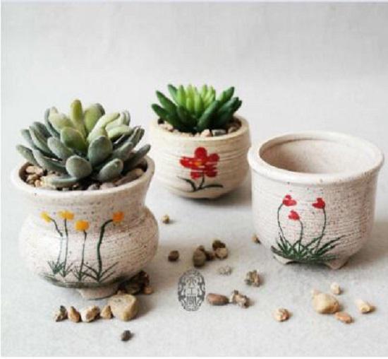 花盆和石子
