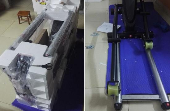 康乐佳E89椭圆机的包装及组装过程