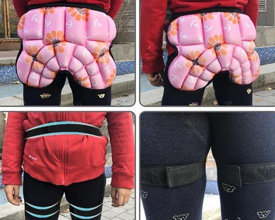轮滑护臀裤的使用方法