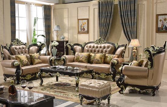 皮沙发更显奢华