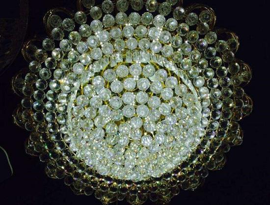 网上买的水晶灯
