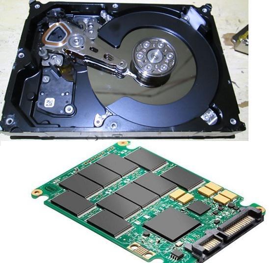 固态硬盘和机械硬盘内部结构
