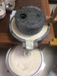 自制豆腐-磨浆