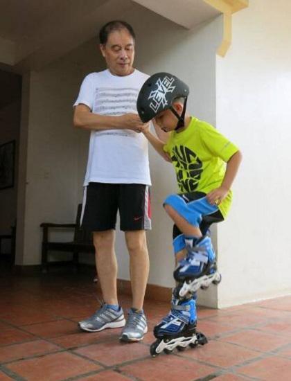 自学轮滑之踏步练习
