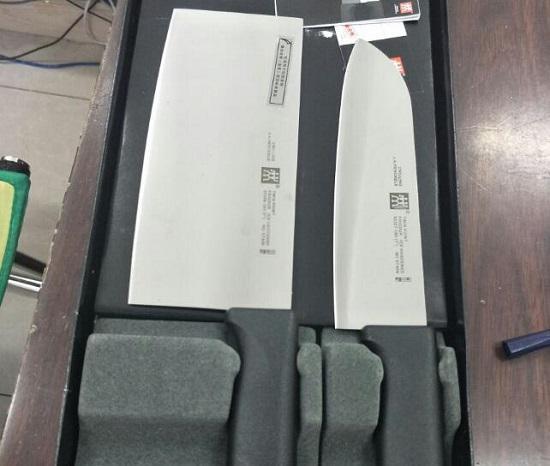 双立人的菜刀套件