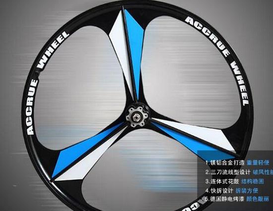 永久山地自行车的车轮