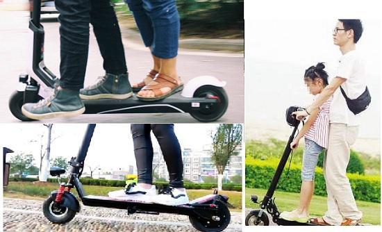 用电动滑板车载人