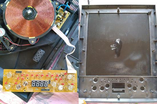 触控按键电路板和电磁炉面板内部构造
