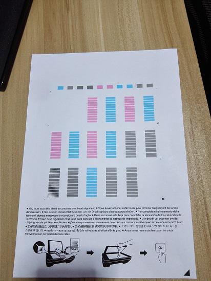 佳能MG2580S打印一体机的测试页
